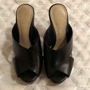 Vince Camuto leather heels size 5